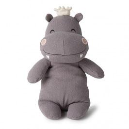Peluche Hippo avec couronne 23cm