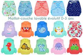 Maillot-Couche Evolutif 0-3 ans  (J&G)