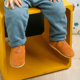 Chaussons Velours Camel