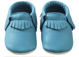 Chaussons Franges Bleu Canard