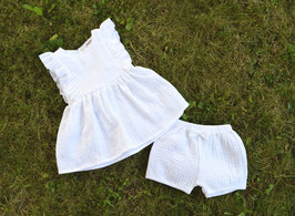 Robe & bloomer Blanc