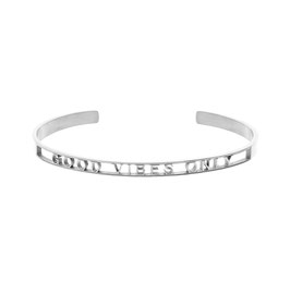 "ICRUSH Armreif ""Good Vibes Only"" silber"