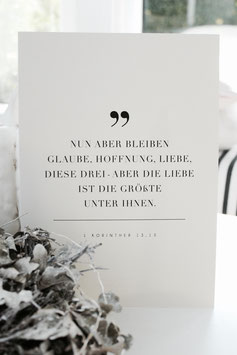 """Poster """"Glaube, Hoffnung, Liebe"""""""