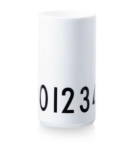 DESIGN LETTERS Vase 0-9 weiß