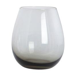 HOUSEDOCTOR Wasserglas, Ball, Rauchgrau