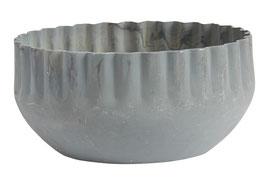IB LAURSEN Kerzenhalter grau mit gewellter Kante