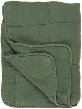 IB LAURSEN Quilt Decke dunkelgrün