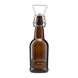 NICOLA VAHE Bügel-Flasche braun