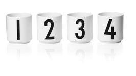 DESIGN LETTERS Espresso Becher Set 1,2,3,4 weiß