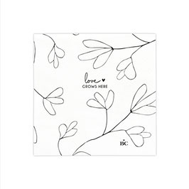 "BASTION COLLECTIONS Serviette klein ""LOVE grows here"""