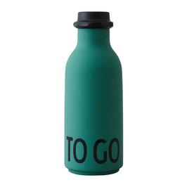 DESIGN LETTERS ToGo Wasserflasche dunkelgrün