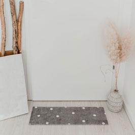 EULENSCHNITT waschbare Fußmatte grau mit Punkten