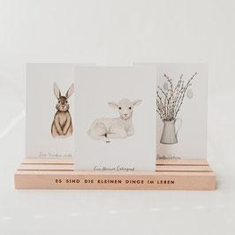EULENSCHNITT Kartenständer natur 25cm