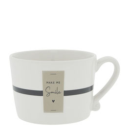BASTION COLLECTION Tasse weiß MAKE ME SMILE
