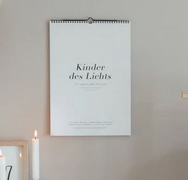 """Kalender """"Kinder des Lichts"""" 2021"""