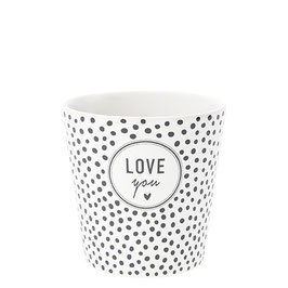 "BASTION COLLECTION Becher (Mug) weiß ""LOVE YOU"""