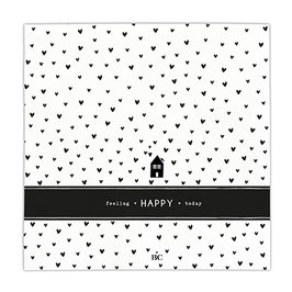 "BASTION COLLECTIONS Serviette groß ""feeling happy today"""