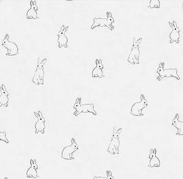 EULENSCHNITT Leinen Kaninchen-Serviette (1 Stück)
