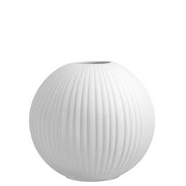 STOREFACTORY Vase Vena weiß groß