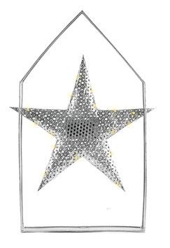 Stern im Haus mit LED