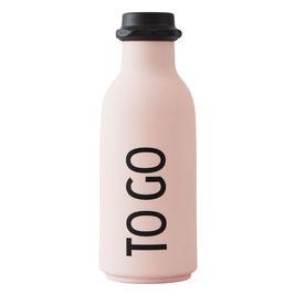 DESIGN LETTERS ToGo Wasserflasche rosa