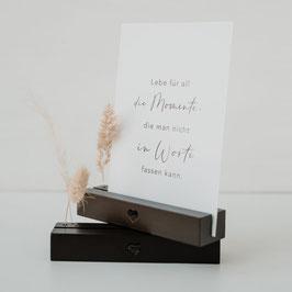 EULENSCHNITT Blumen- und Kartenständer schwarz 12 cm