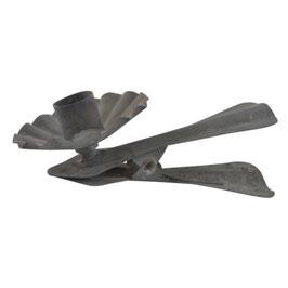 IB LAURSEN Metallclip für Stabkerze grau/zink