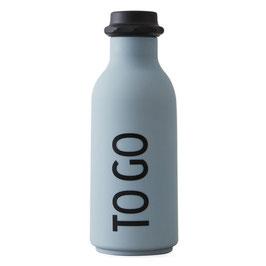 DESIGN LETTERS ToGo Wasserflasche grau