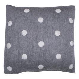 STRÖMSHAGA Kissenbezug grau mit weißen Punkten