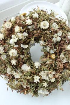 Trockenblumenkranz White Deluxe (40cm)