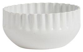 IB LAURSEN Kerzenhalter weiß mit gewellter Kante