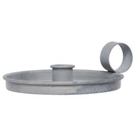 IB LAURSEN Kammerleuchter für Stabkerze grau/zink
