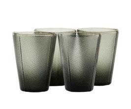 HOUSEDOCTOR Gläser MILO 4er-Set (rauchgrau)