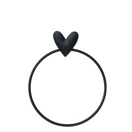 BASTION COLLECTION Handtuchhalter Ring mit Herz
