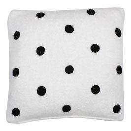 STRÖMSHAGA Kissenbezug weiß mit schwarzen Punkten