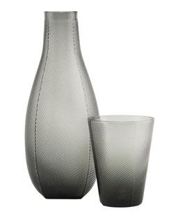 HOUSEDOCTOR Karaffe mit Glas MILO (rauchgrau)