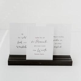 EULENSCHNITT Kartenständer schwarz 25cm