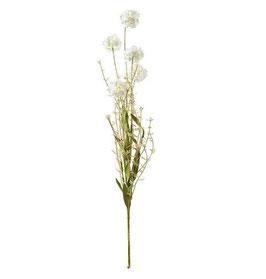 Kunstblume Wiesenblume (grün/creme)