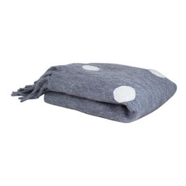 STRÖMSHAGA Decke grau mit weißen Punkten