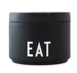 DESIGN LETTERS Thermo LUNCH BOX EAT small schwarz
