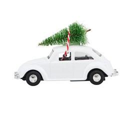 HOUSEDOCTOR Xmas car (weiß) 2 Größen verfügbar