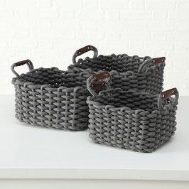 Körbchenset grau (3 Größen verfügbar)