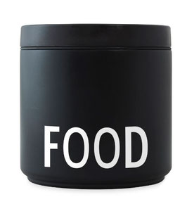 DESIGN LETTERS Thermo LUNCH BOX FOOD large schwarz