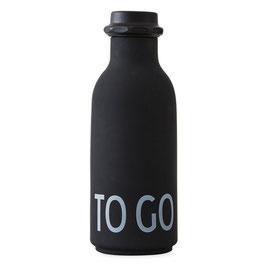 DESIGN LETTERS ToGo Wasserflasche schwarz