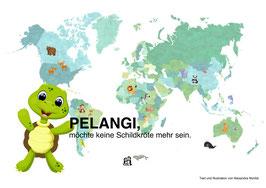 PELANGI, möchte keine Schildkröte mehr sein.
