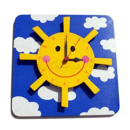 """Orologio a parete con effetto 3D """"SOLE"""""""