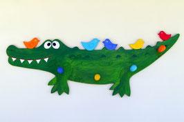 Rocco das Krokodil - Garderobe mit 4 Haken