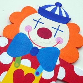 Clown Pippo - Garderobe mit 4 Haken