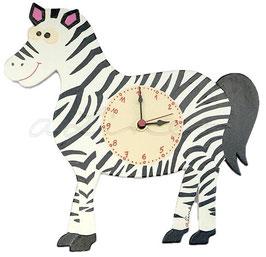 Kinderzimmeruhr Leila das Zebra
