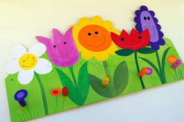 Happy Flowers - Garderobe mit 5 Haken